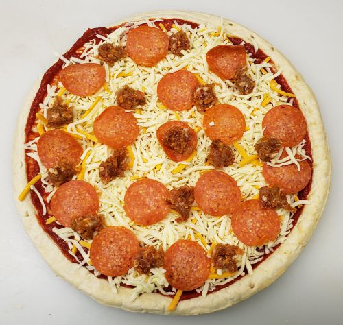 Thick Sausage and Pepperoni